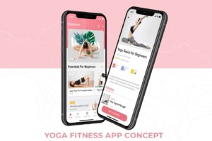 Yoga Fitness App Concept-min